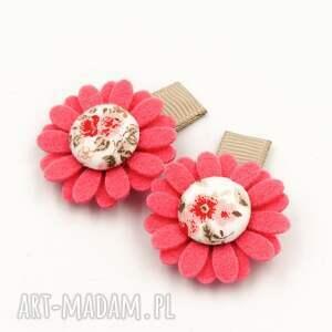 dla dziecka momilio spineczki do włosów florence pink, kwiatuszki