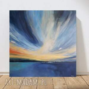 morze-obraz akrylowy formatu 60/60 cm, obraz, morze, akryl, pejzaż, łodzie