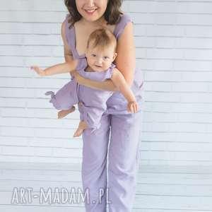 komplet dla mamy i córki-letni kombinezon, lniany, mama córka, len
