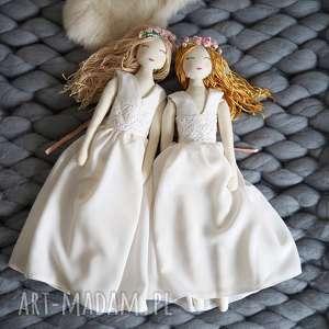 ręcznie zrobione lalki zestaw 2 lalek księżniczek z ubrankami