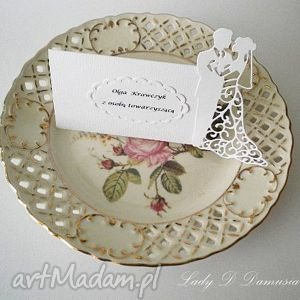 winietki ślubne /wizytówki na stół weselny, ślub, winietki, wizytówki, podziękowanie
