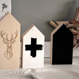dekoracje domki drewniane, domki, domek, drewna, jeleń, plusy