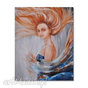 obrazy raisa, obraz ręcznie malowany, kobieta, portret, obraz, do