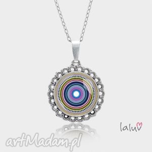Medalion okrągły mały LOVE MANDALA, harmonia, spokój, zen, buddyzm, preznet, medalion
