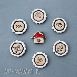 prezenty świąteczne Messengery-magnesy ceramiczne, wiadomość, prezent, lodówka