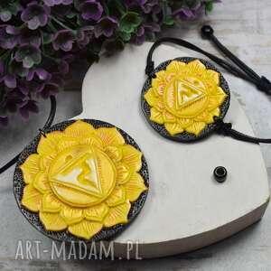 komplet biżuterii manipura - wisiorek i bransoletka czakry splotu słonecznego