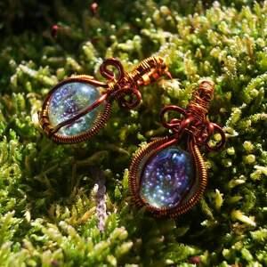 kosmiczna koniczyna - kolczyki z kwiatu koniczyny żywicy i - żywica epoksydowa
