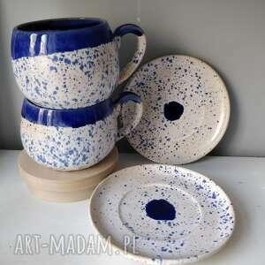 ceramika zestaw dwóch filiżanek, filiżanka do herbaty, użytkowa