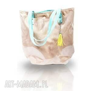 torebki mana neon nude, torba, neon, ramię, folia
