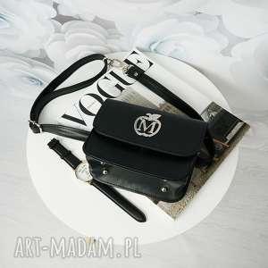 nerki elegancka nerka/kopertówka manzana na każdą okazję czarna, torebka, nerka