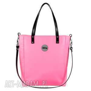 torba damska cuboid waterproof różowa, elegancka torebka, do pracy