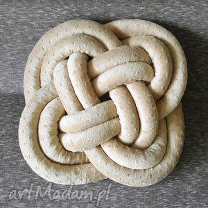 poduszka celtycka kremowa celtic pillow creamy, handmade, dekoracyjna