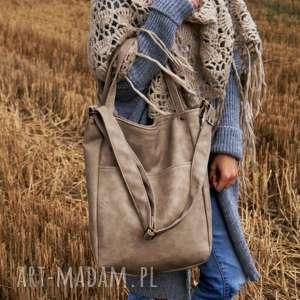 na ramię iks pocket vege piaskowy, torba, torebka, vegan, manufaktura, iks, beż
