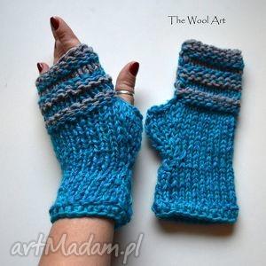 rękawiczki mitenki - rękawiczkcei, mitenki, naręce, wełniane