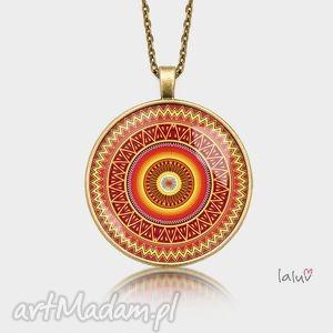 medalion okrągły aztecka mandala - mandala, buddyzm, spokój, relaks, grafika