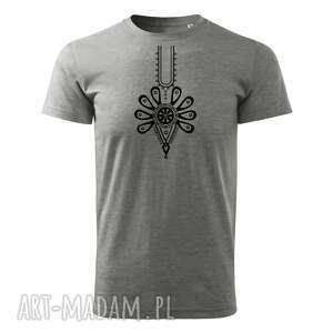 tatra art - podhalańska klasyka parzenica t-shirt męski szary, koszulka