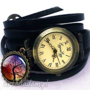 drzewo miłości - zegarek bransoletka na skórzanym pasku