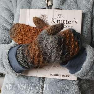 rękawiczki w gwiazdki - ciepłe, miękkie, śnieg, gwiadka porosty