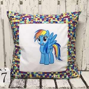Poduszka z haftem 40x40cm Rainbow Dash, rainbow-dash, kucyk, kucyki