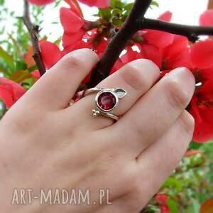 srebrny pierścionek z turmalinem, turmalin biżuteria