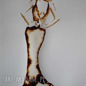 hand-made obrazy wyśniona - obraz kawą malowany