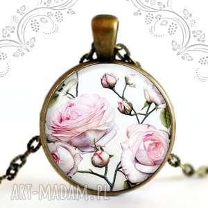 pudrowe rÓŻe - naszyjnik - róża, kwiat, pudrowy, romantyczny, prezent