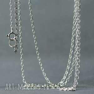 łańcuszek typu ankier z jasnego srebra próby 925, srebrny