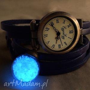 autorskie zegarki królewski piasek - zegarek/bransoletka na skórzanym pasku