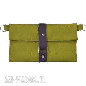 27-0012 Zielony organizer do torebki na damskie dodatki JASMINE, modne, portmonetki