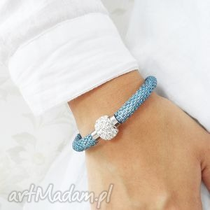 blue inspiration, bransoletka, koralikowa, beading, beadwork, bead crochet