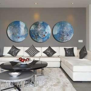 Tryptyk księżycowy 2, księżyc, planeta, kosmos, aleksandrasemeniuk, ebru, abstrakcja