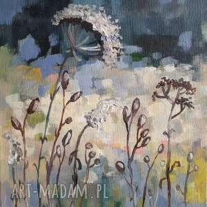 jesienna łąka vi - obraz akrylowy formatu 20/30 cm, łąka, akryl, abstrakcja