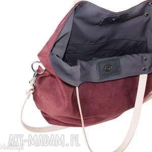 58533fa197e36 pracownia mana torba worek simple  zamsz marsala