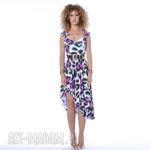 xenia - asymetryczna sukienka, panterka, asymetryczna, letnia sukienki