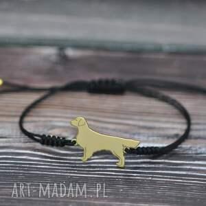 golden retriever - bransoletka z psem / srebro pozłacane, pies