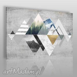 obraz na płótnie - abstrakcja góry 120x80 cm 19601, abstrakcja, góry, trójkąty