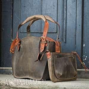 kuferek torba torebka ręcznie robiona oryginalna z kopertówką i paskiem ladybuq
