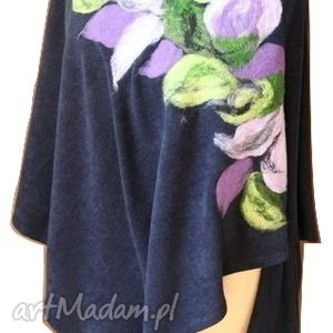 hand-made poncho tunika i kwiat magicznego ogrodnika