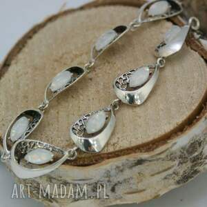 bransoletka srebrna z opalem, bransoletka, srebro, opal, eleganckie, piękne