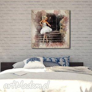 obrazy obraz xxl baletnica 6 -80x80cm na płótnie tancerka, obraz