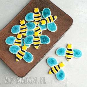magnesy pszczółka - magnes, kolorowe, pszczółka, owad, dom, kuchnia