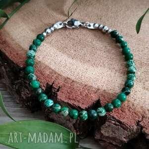 bransoletka z zielonym jaspisem cesarskim, biżuteria kamieni