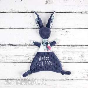maskotki luluś królik - dla niemowląt super hero, sensoryczna, szmatka, zabawka