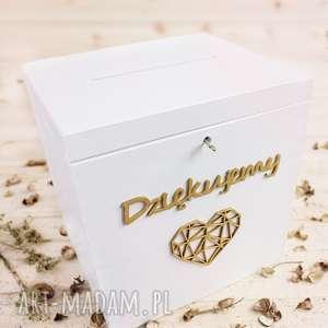 Pudełko na koperty duże białe, ślub, skrzynka,