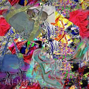 nowoczesny obraz na płótnie fashionistka, moda, nowoczesny, szpilki, kolorowy, modern