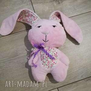 hand made zabawki króliczek na chrzciny
