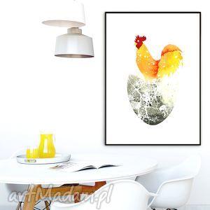 art print a4, kuchnia, kogut, obraz, ilustracja, plakat, święta prezent