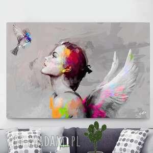 obraz she 120x80 cm, obraz, plakat, dekoracje, dodatki, ptak, obrazki