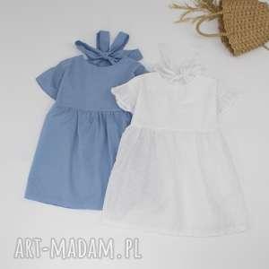 Lekka bawełniana sukieneczka, bawelna, haftowana
