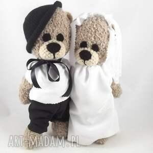 ślubne misie - wykonane na zamówienie dla pana karola b, para młoda